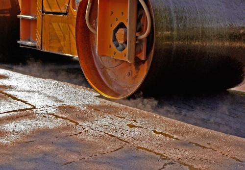 Walec w Sierakowie #Sieraków #walec #Izabelin #droga #budowa #maszyna #asfalt
