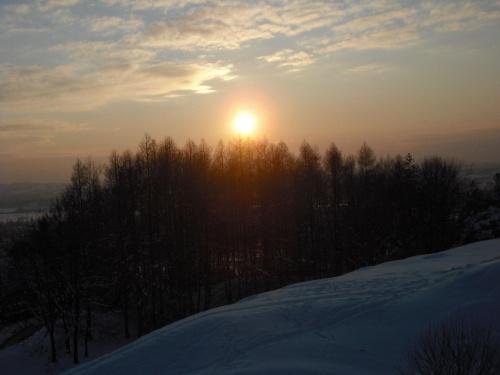 zachód słońca zimą #zima #ZachódSłońca