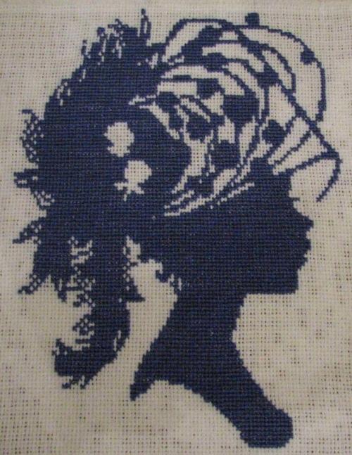 Mój pierwszy obrazek :) Dama w kapeluszu - Bertille.