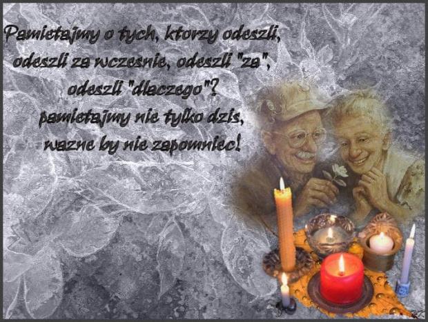 Dzien zadumy i pamieci o tych, ktorzy odeszli... #listopad #Zaduszki #ŚwiętoZmarłych #wspomnienia #pamięć