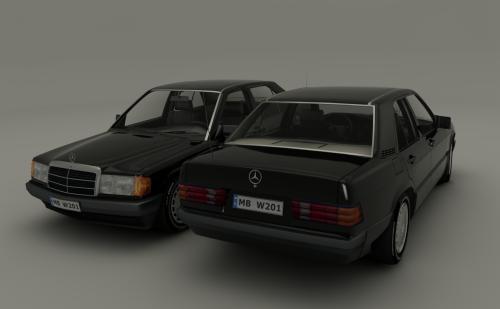#MercedesW201190Model3DRender