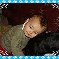 Jasio przytula Bafi #Jasio #Jaś #synek #syn #przystojny #mężczyzna
