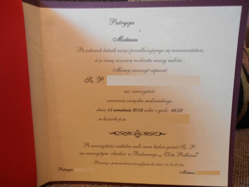 Zaproszenia ślubne Wykonane Samodzielnie Strona 84 Forum