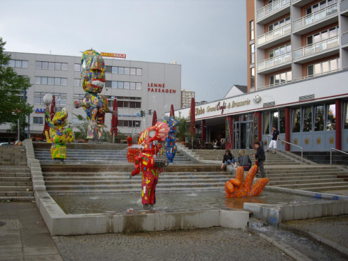 Fontanna we Frakfurcie nad Odrą. #fontanna