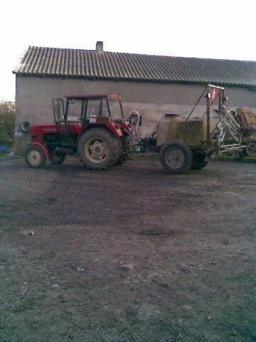 c355 + opryskiwacz #maszyny #rolnictwo