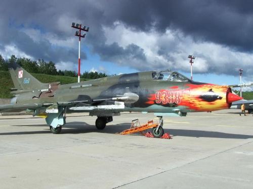Piknik lotniczy Mirosławiec 30.08.2008, Su - 22M4 #Mirosławiec #lotnictwo #samoloty #PokazyLotnicze #AirShow