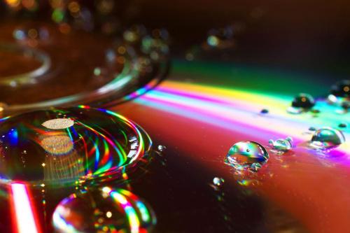 disco #krople #lód #macro #odbicia #woda