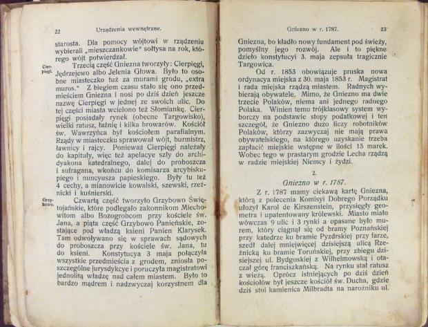 Przewodnik o Gnieźnie 1915 r. opis kosciolów św. Ducha i św. Mikolaja
