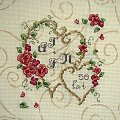 Haft - upominek na rocznicę ślubu - przeznaczony do oprawy. #HaftKrzyżykowy #pamiątka #rękodzieło #RocznicaŚlubu