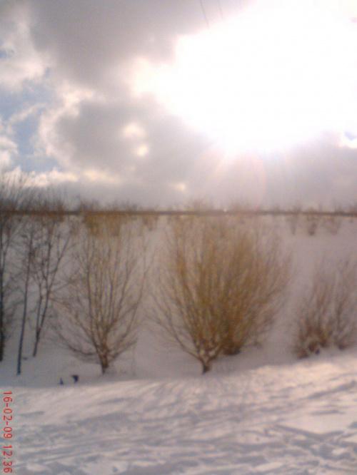 #zima #słońce #drzewa #śnieg #chmury #góra