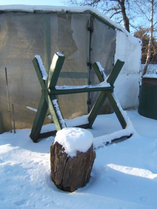 Ogródki działkowe w śniegu #działka #zima